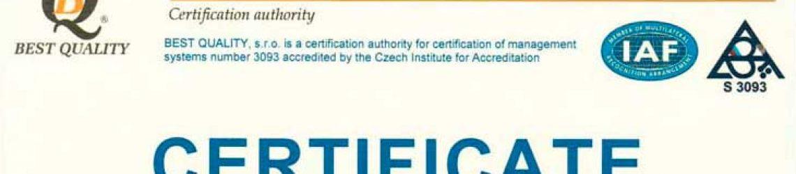 (Czech) ČSN EN ISO 9001:2016